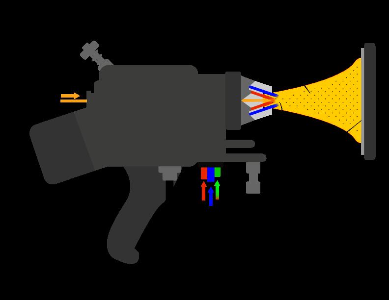 metallizing by flame spray gun / Métallisation par projection thermique par flamme fusil