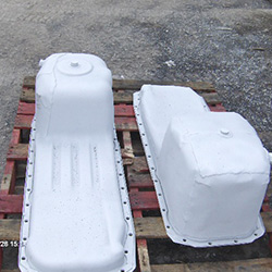 Aluminum protection for oil pans